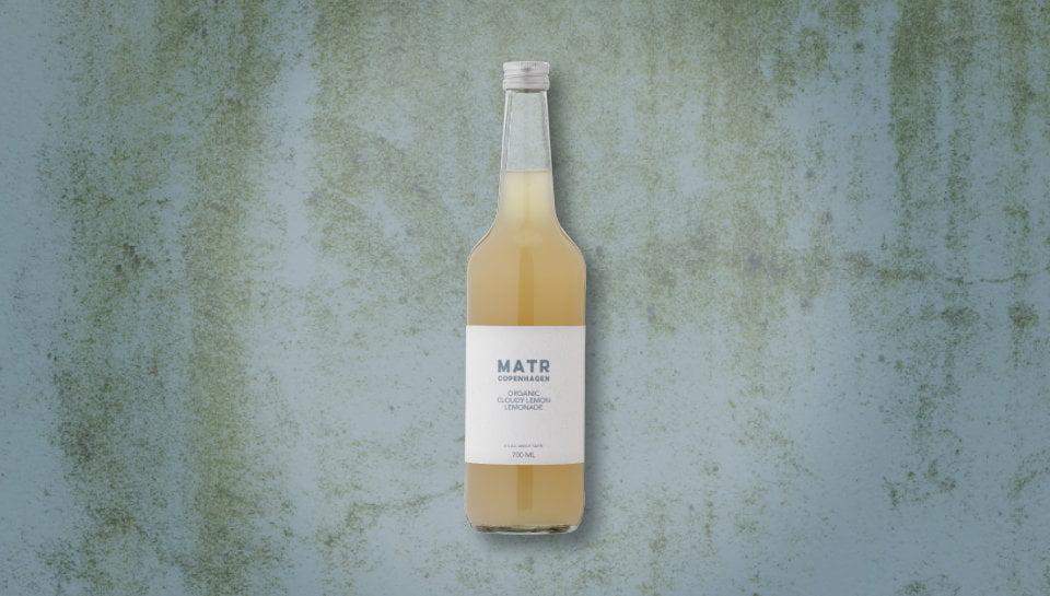 Organic Lemon Lemonade in glass bottle