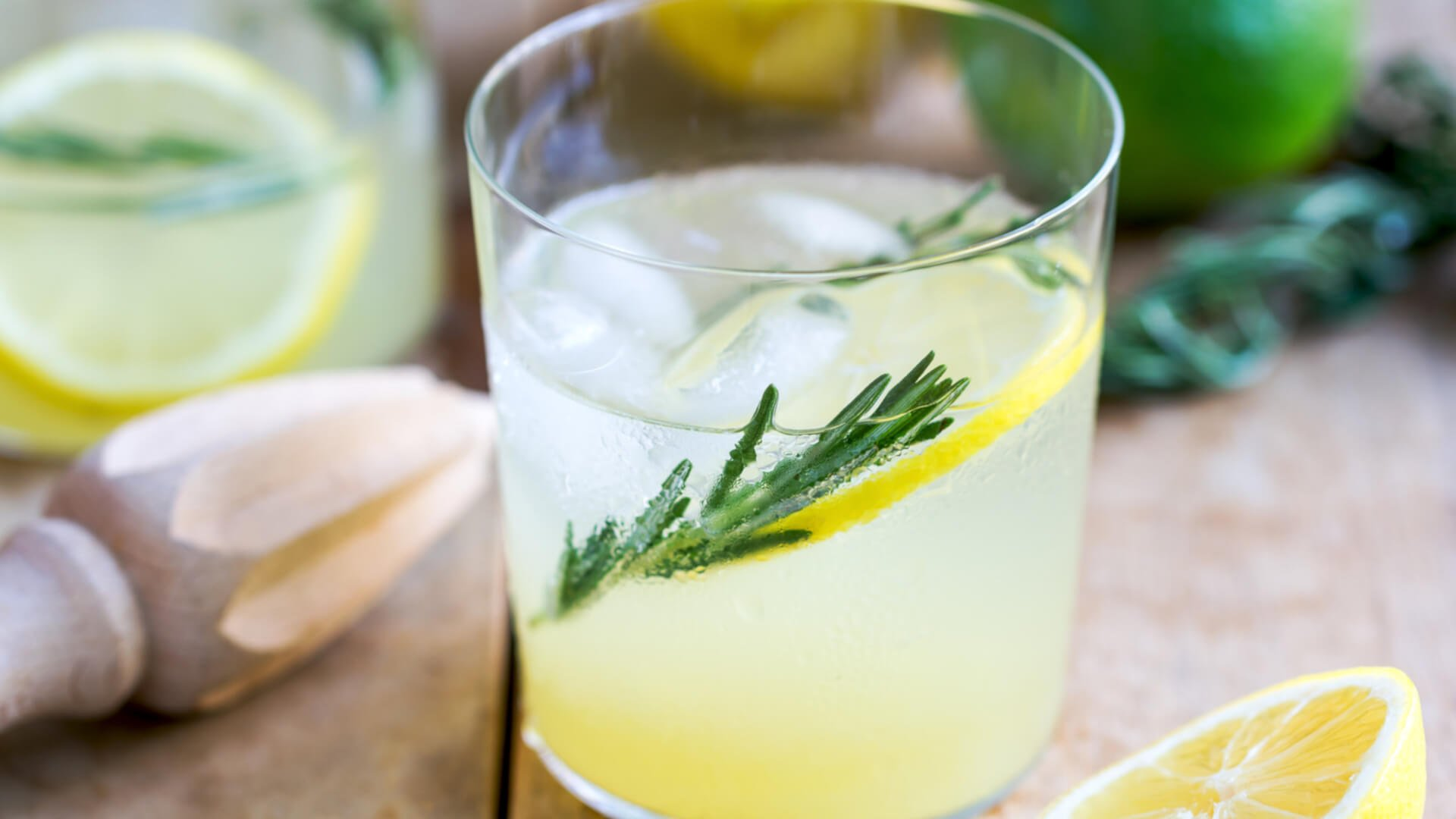 yuzu gin rosemary drink